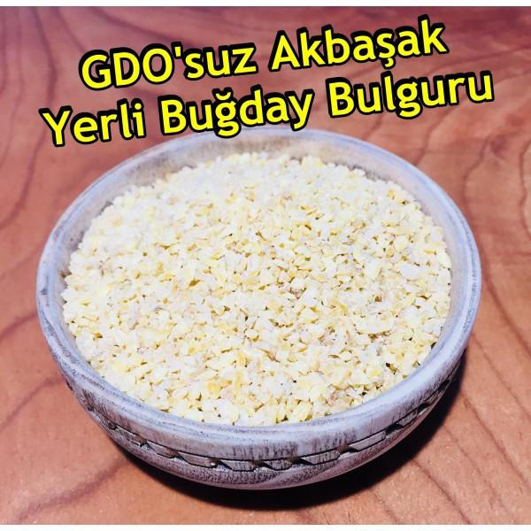 GDO'suz Akbaşak Yerli Buğday Bulguru - 1 KG
